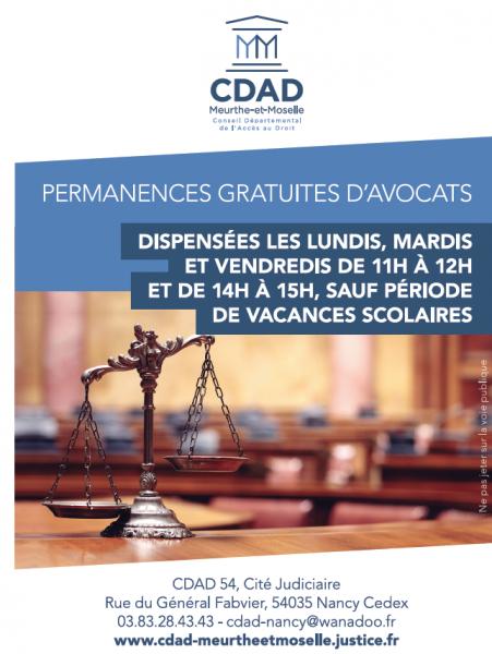 d7b1871ee43 Permanences juridiques gratuites au Tribunal de Grande Instance de Nancy